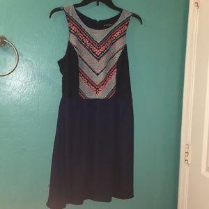 A navy dress